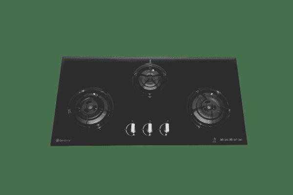SALE Goldline GL3BZ 860mm 3 Burner Black Glass Gas Cooktop-0
