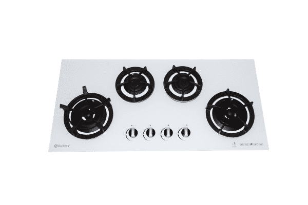 SALE GOLDLINE GL4WZ- CAST 930mm White glass Gas Cooktop With Cast Iron Trivets ( Fits Most Old Cooktop Cut Outs )-0
