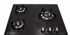 SALE GOLDLINE GL603BZ 640mm 3 Burner Black Glass Gas Cooktop-0