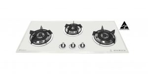 SALE Goldline GL3WZ 860mm White Glass Gas Cooktop-0