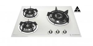 SALE GOLDLINE GL603WZ 640mm White Glass Gas Cooktop-0