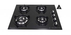 SALE GOLDLINE GL704BZ 4 Burner Black Glass Cooktop-0