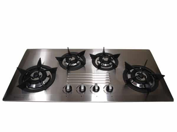 SALE GOLDLINE GL4SSN - CAST 930mm STAINLESS STEEL GAS COOKTOP WITH CAST IRON TRIVETS -0