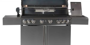 SALE SMART 611WW 6 BURNER TROLLY BBQ (With Viewing Hood) LPG Ready-0