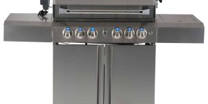 SALE SMART 411WW 4 BURNER TROLLEY BBQ (With Viewing Hood) LPG Ready-0